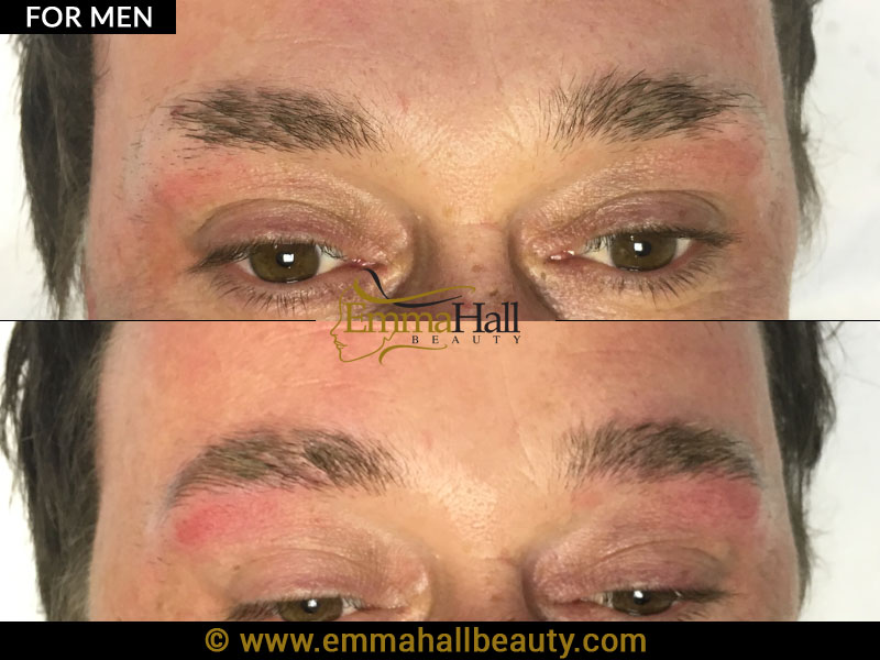 permanent eyebrows for men